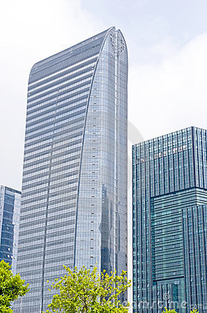 Nowożytny budynku szkło