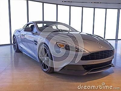 Nowy Aston Martin samochód Obraz Stock Editorial