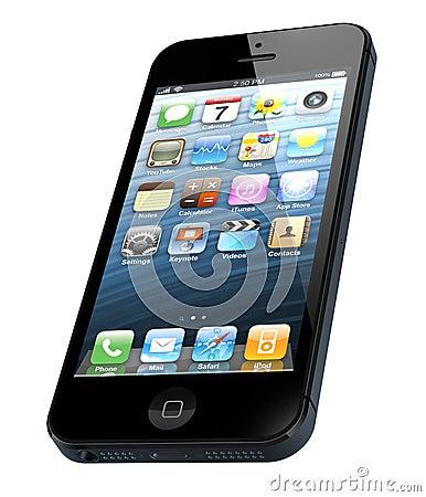 Nowy Jabłczany iPhone 5 Obraz Editorial