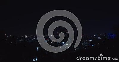 Nowy rok fajerwerków nad miastem zdjęcie wideo