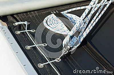 Närbild som skjutas av rep