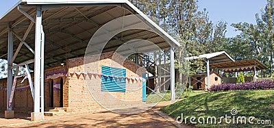 Ntarama church and school Editorial Stock Image