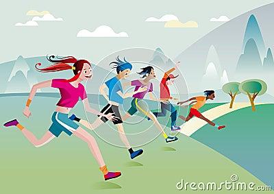 πέρα από το τρέξιμο κοριτσιώ&nu