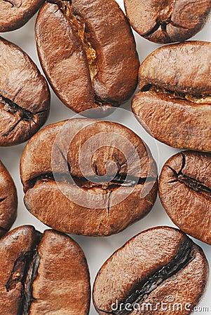 κορυφαία όψη καφέ φασολιώ&nu