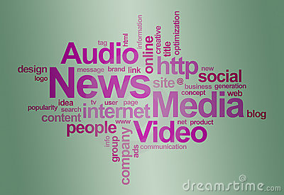 Nuage de nouvelles et de mot d â de medias