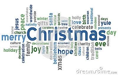 Nube de la palabra de la Navidad