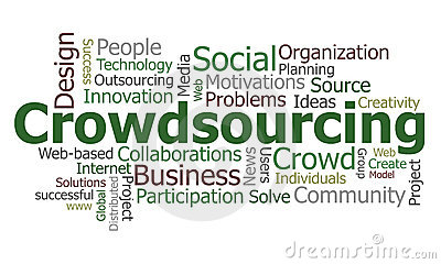 Nube di parola di Crowdsourcing