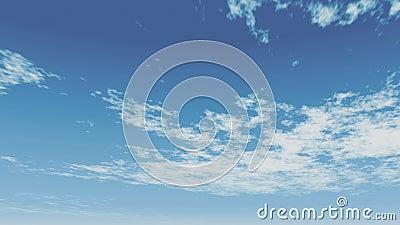 Nubes animadas sobre un cielo azul, nubes en movimiento rápido metrajes