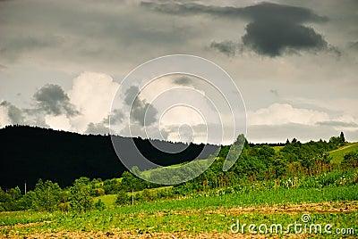 Nubes de la tempestad de truenos