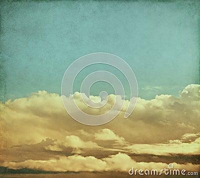 Nubes de tormenta del vintage