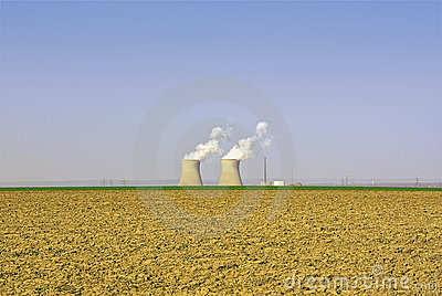 Nuclear Power Plant And Agricultural Landscape