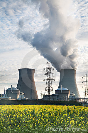 Free Nuclear Power Plant Biofuel Biodiesel Energy Royalty Free Stock Photos - 11393088