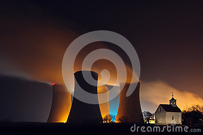 Nuclear power plant and a chapel