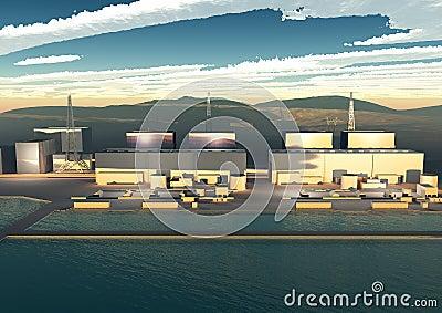 Nuclear power plant Fukushima, Japan Editorial Image