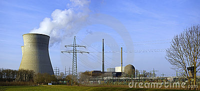 Nuclear Power Plant of Gundremmingen, Germany Editorial Stock Image