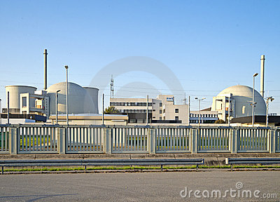 Nuclear Power Station Biblis Editorial Stock Photo