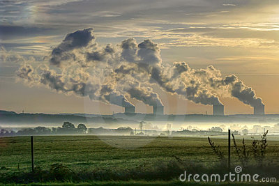 Nuclear power station in the m