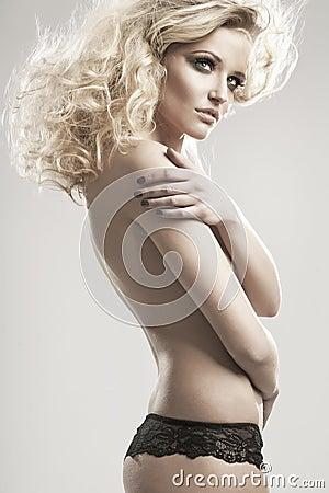 Nude blondie