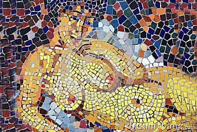 Nude torso mosaic