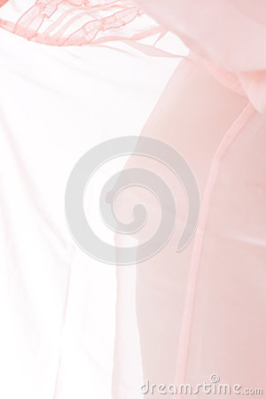 Nude woman breast, transparent clothes