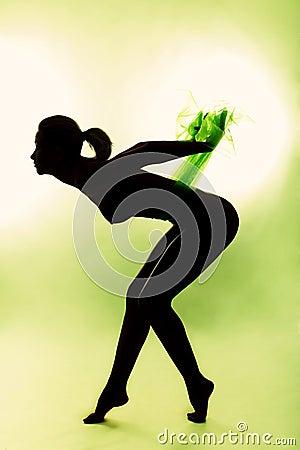 Nude woman silhouette #2