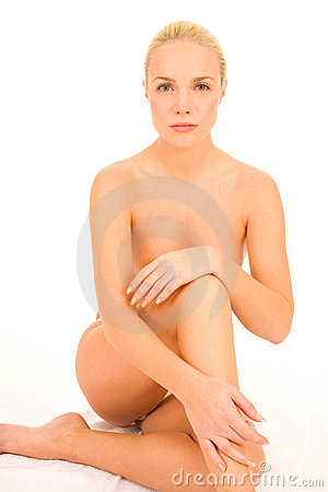 Free Nude Woman Sitting Stock Photography - 18254892