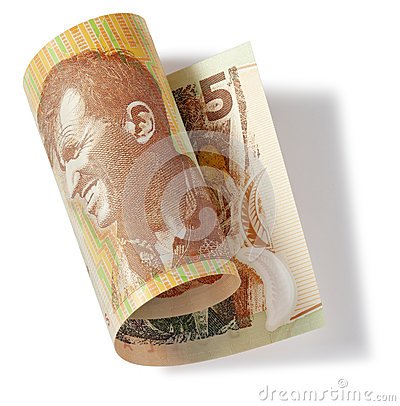Nueva Zelanda dinero de cinco dólares