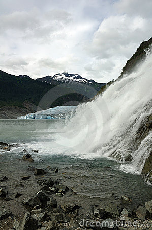 Nugget Falls, Mendenhall Glacier, Juneau, Alaska