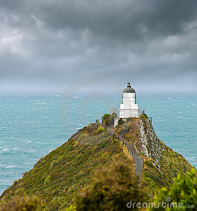 Free Nugget Point Light House Stock Photography - 18573462