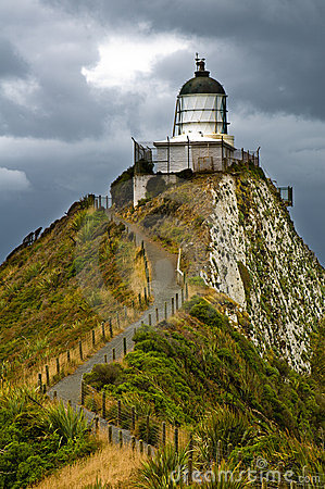 Free Nugget Point Light House Stock Photography - 18573632