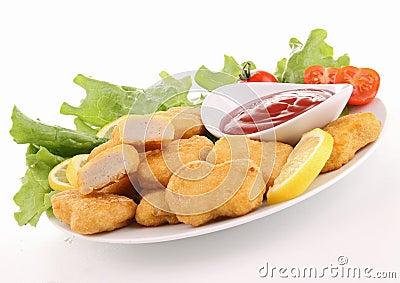 Nuggets and ketchup