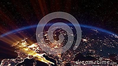 Nuit de la terre. L'Europe.