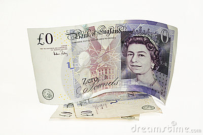 Nullwert-Banknote Redaktionelles Stockbild
