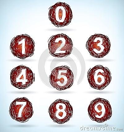 Numéros gribouillés
