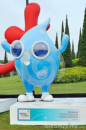 Num Sai mascot Editorial Image