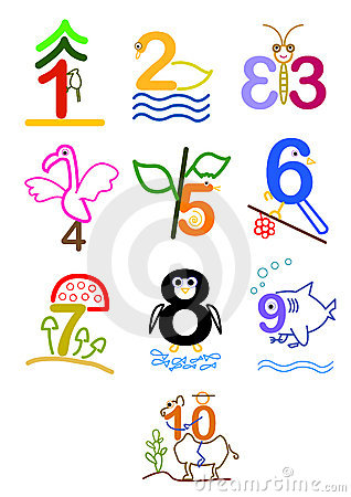 Number 1 - 10 Stock Photo - Image: 22036480 Old English Numbers 1 10