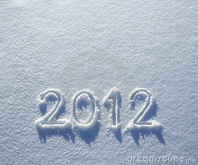 Number 2012 on snow