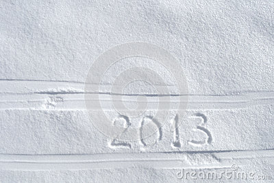 Number 2013 on snow