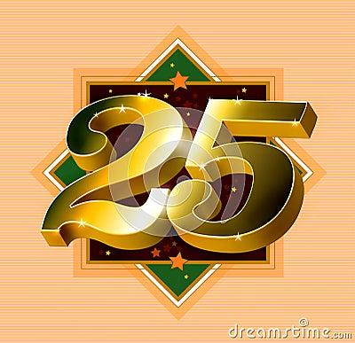 Free Number 25 Logo Royalty Free Stock Image - 11594776