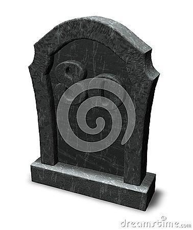 Number eighty on gravestone