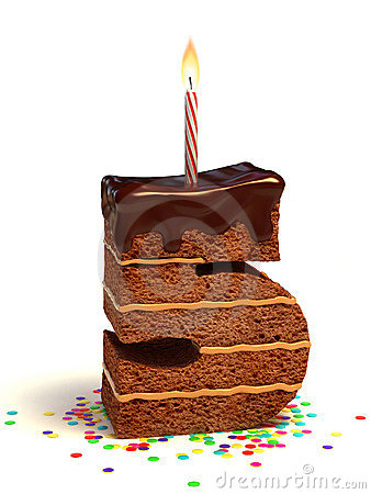 Free Number Five Shape Birthday Cake Stock Photo - 17074490