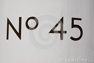 Number Forty Five