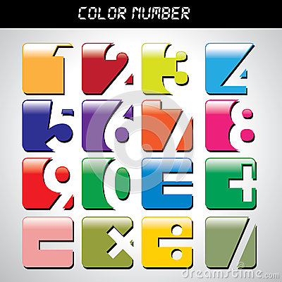 Free Number Icon With Many Colors Royalty Free Stock Photo - 39910335