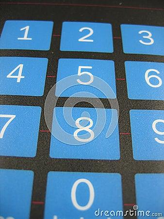 Number keyboard