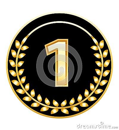 Number one medal