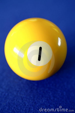 Free Number One Pool Ball Royalty Free Stock Photo - 9095255