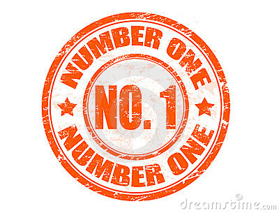 Number One Rubber Stamp Royalty Free Stock