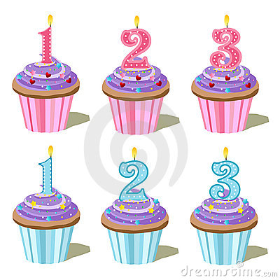 Free Number One, Two, Three Cupcake Royalty Free Stock Image - 16304566