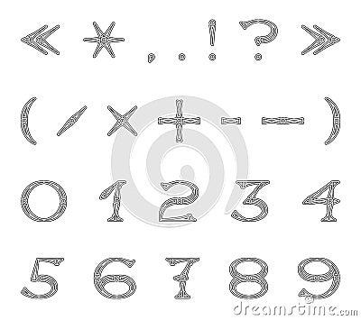 Number Openwork font