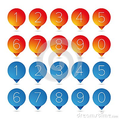 Free Number Set Pointer Button Royalty Free Stock Photos - 101893808